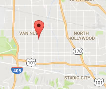 san fernando valley map